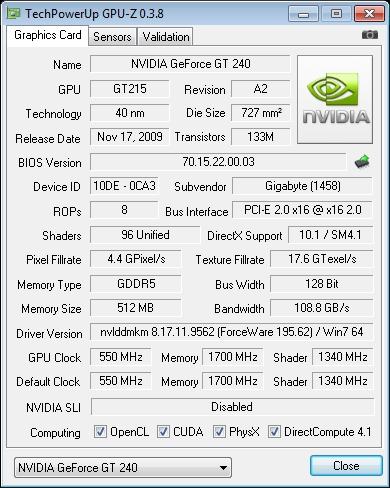 GPU-Z GT240