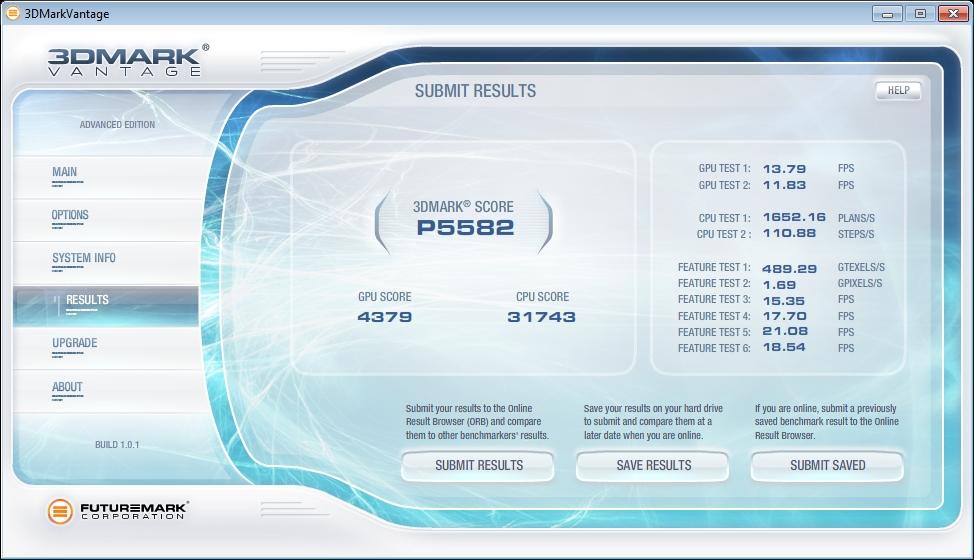 3Dmark Vantage performance GT240