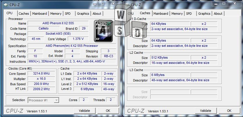 AMD Phenom 2 X2 555