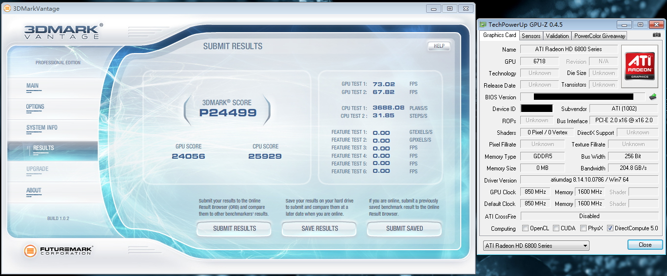 Radeon HD6870 Vantage Performance