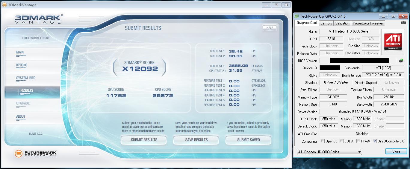 Radeon HD6870 Vantage Extreme