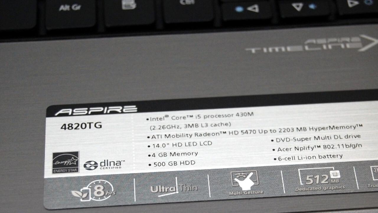 Aspire Timeline X 4820TG-434G50Mn