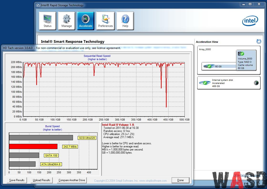 HDD Samsung HD502IJ + SSD Kingston V+ 64GB