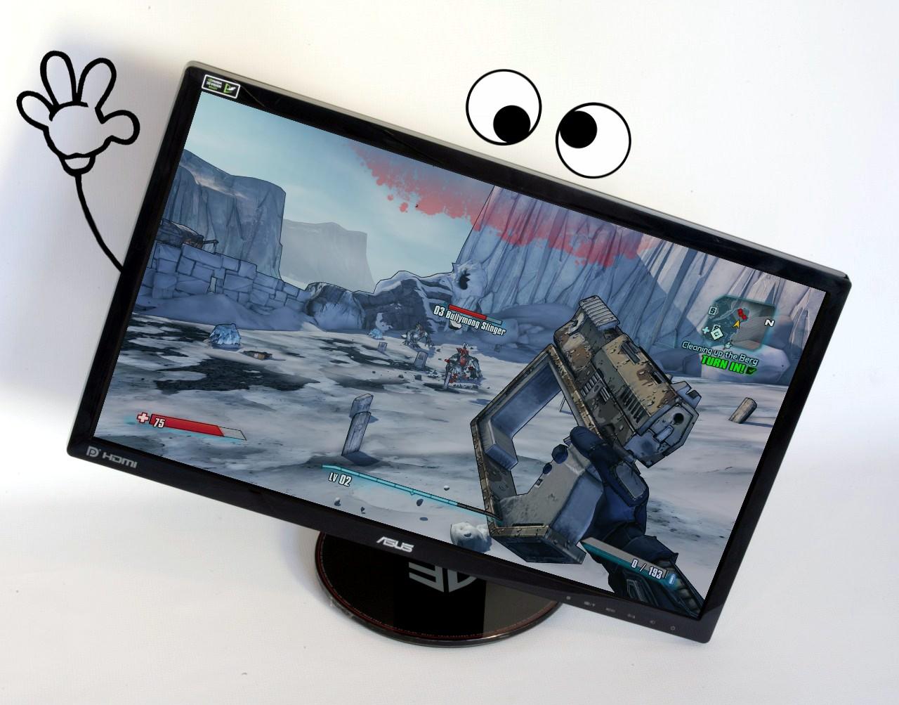 Monitorul ASUS VG248QE vă salută din redacţia WASD