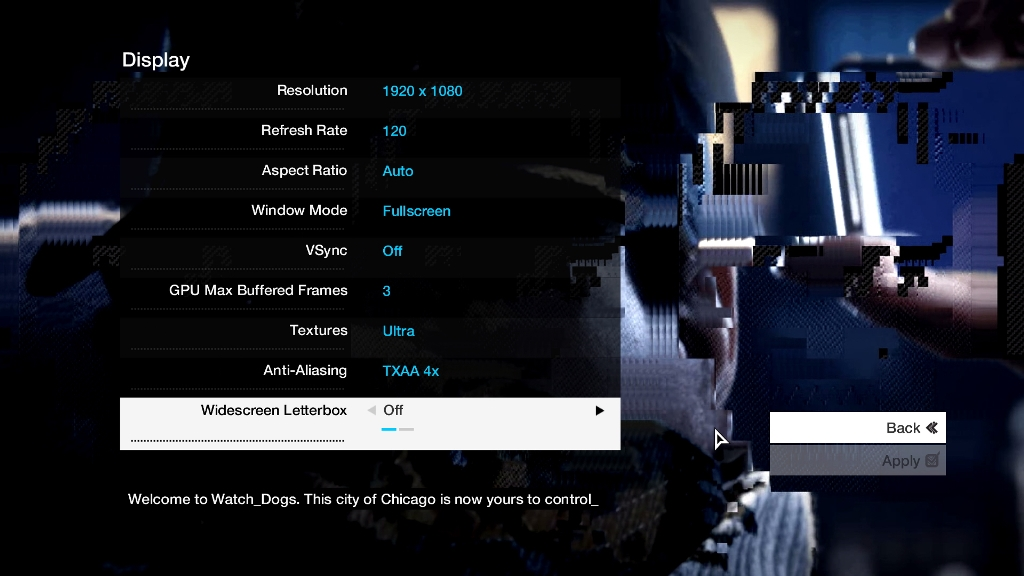 watch dogs-settings2