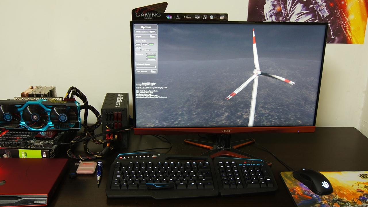 AMD FreeSync review - part 1 - teste pe Acer XG270HU