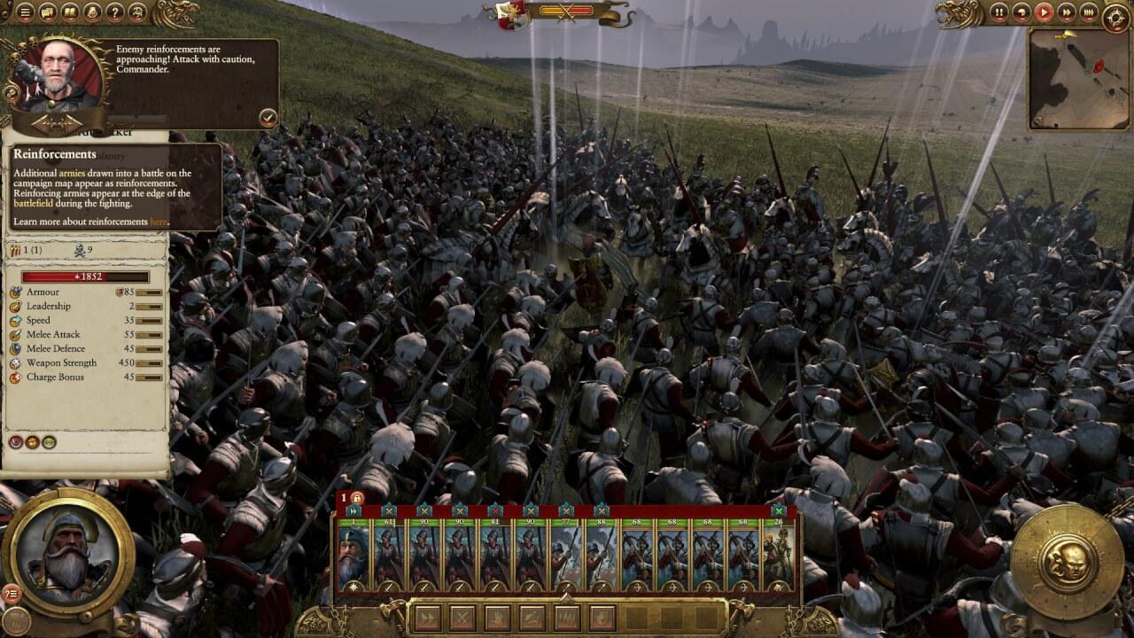 Tipul ăla din mijloc e generalul inamic, singur, și punctele roșii de pe minimap sunt enemy reinforcements. Au ajuns la mine înainte ca toți băieții ăștia să fie în stare să-l omoare.