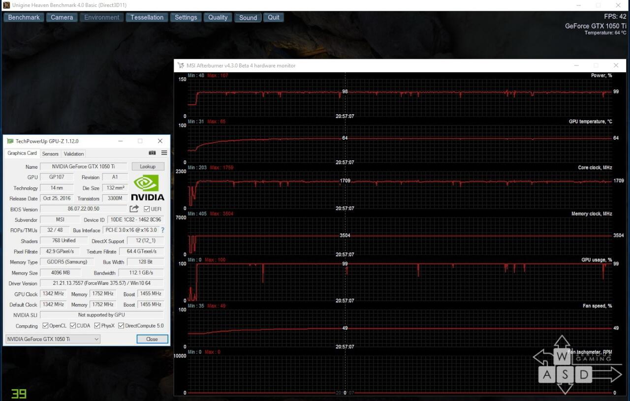 GTX 1050 Ti load auto default
