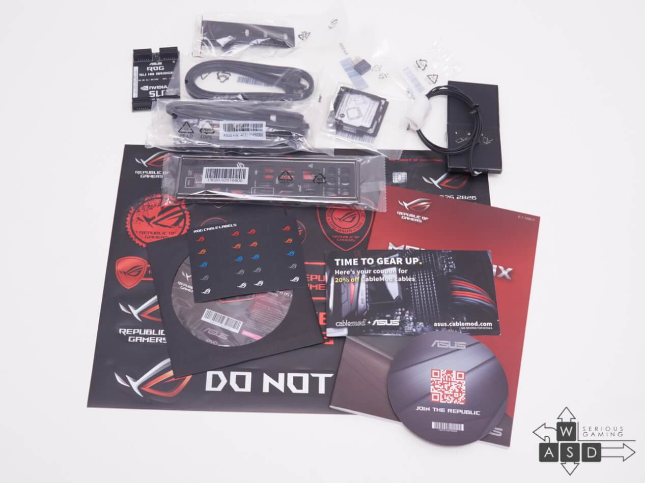 Asus ROG Maximus IX Code package contents