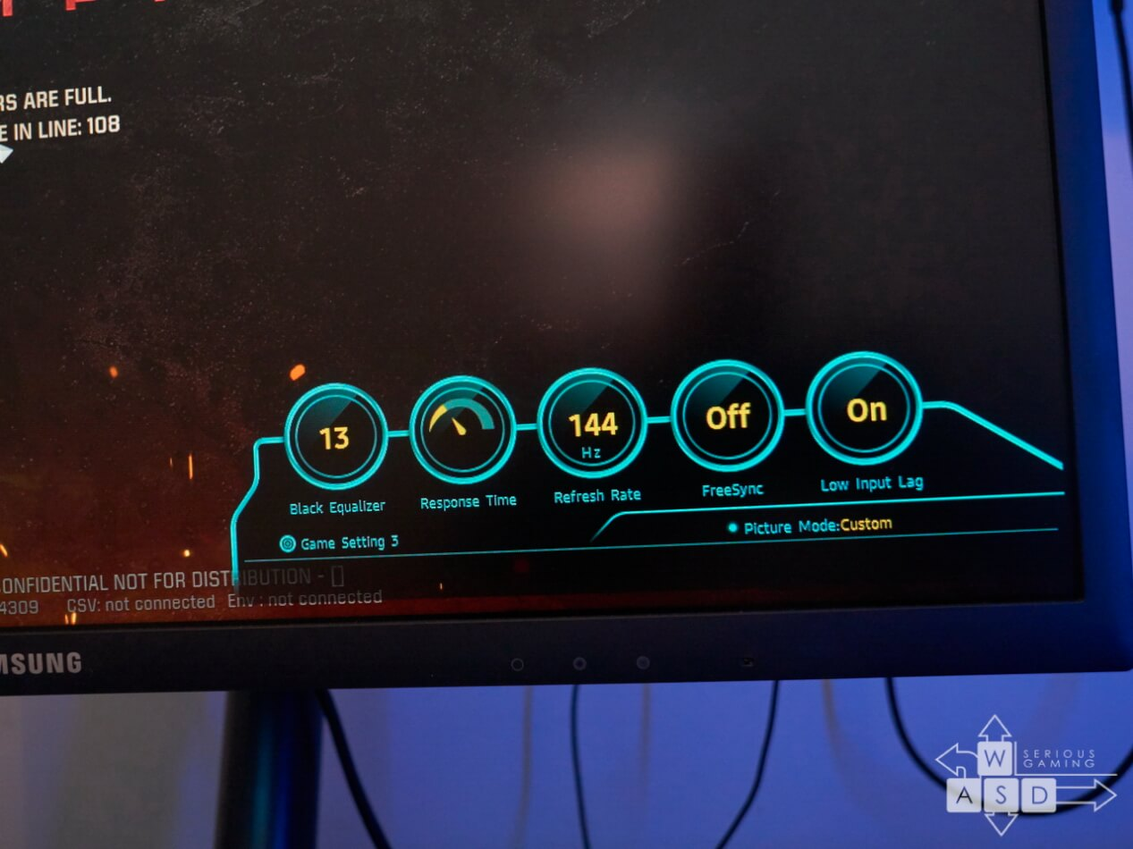 Samsung Curved 144 Hz Gaming display