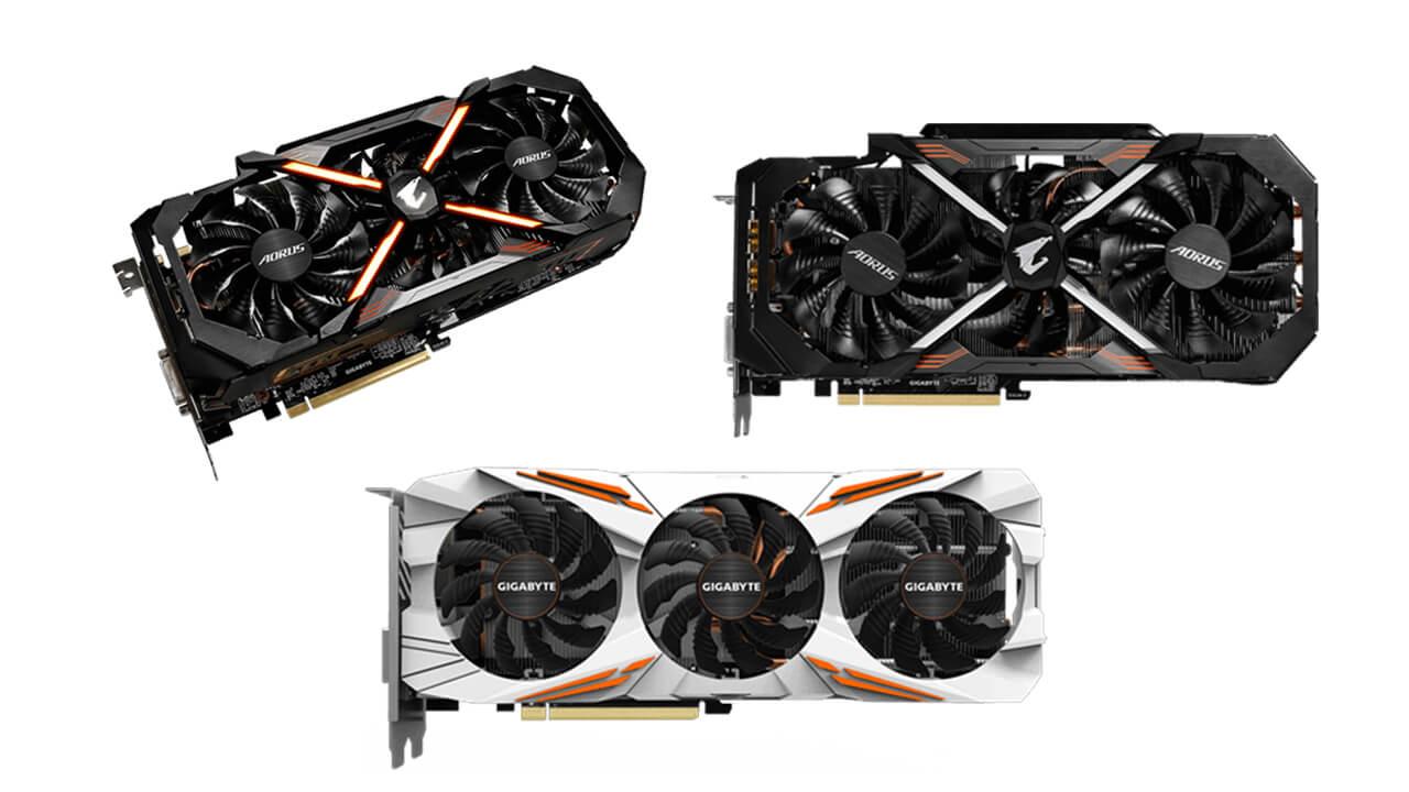 Gigabyte GTX 1080 Ti GPUs