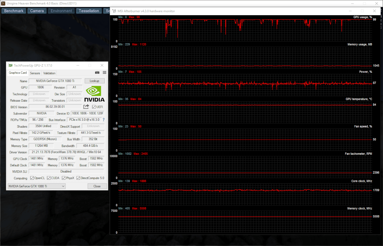 Nvidia GeForce GTX 1080 Ti Founders Edition temperature