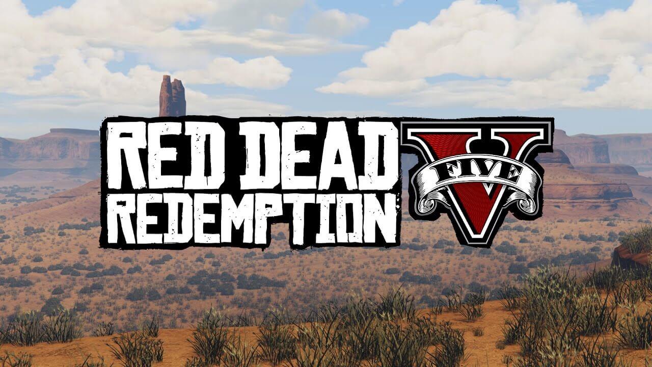 GTA V red dead redemption map mod