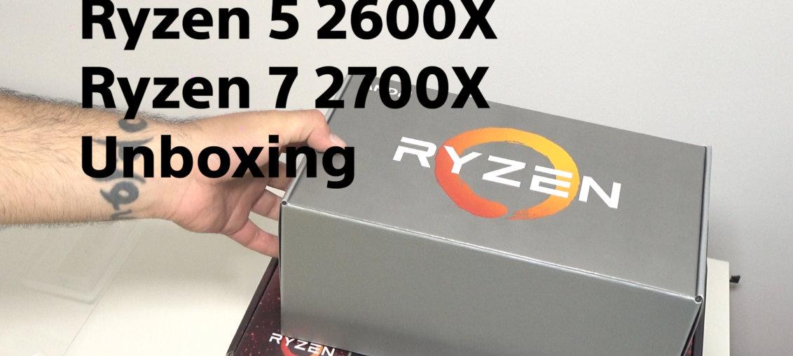 AMD Ryzen 5 2600X & Ryzen 7 2700X Unboxing | WASD