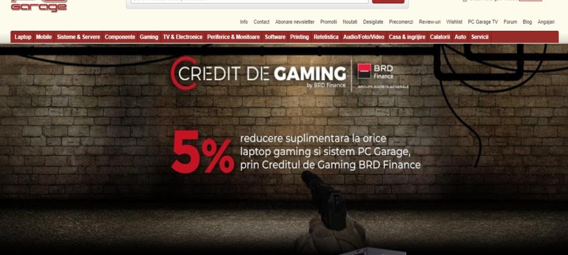 PC Garage lanseaza Creditul de Gaming