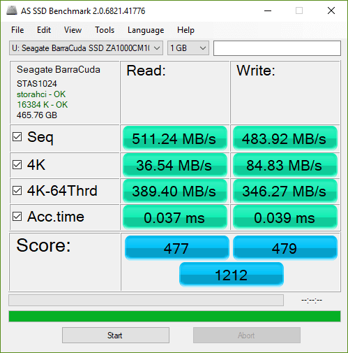 Seagate Barracuda 500GB SSD