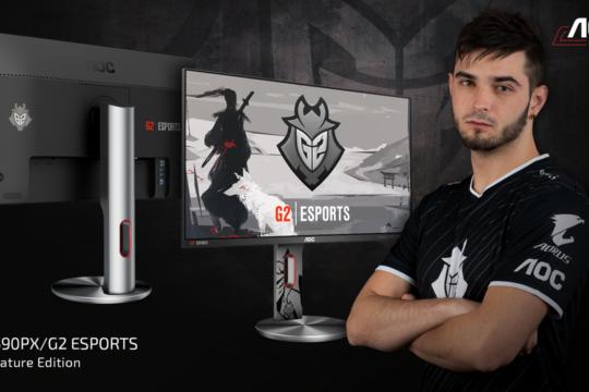 AOC lanseaza un nou monitor de gaming in parteneriat cu echipa G2 Esports