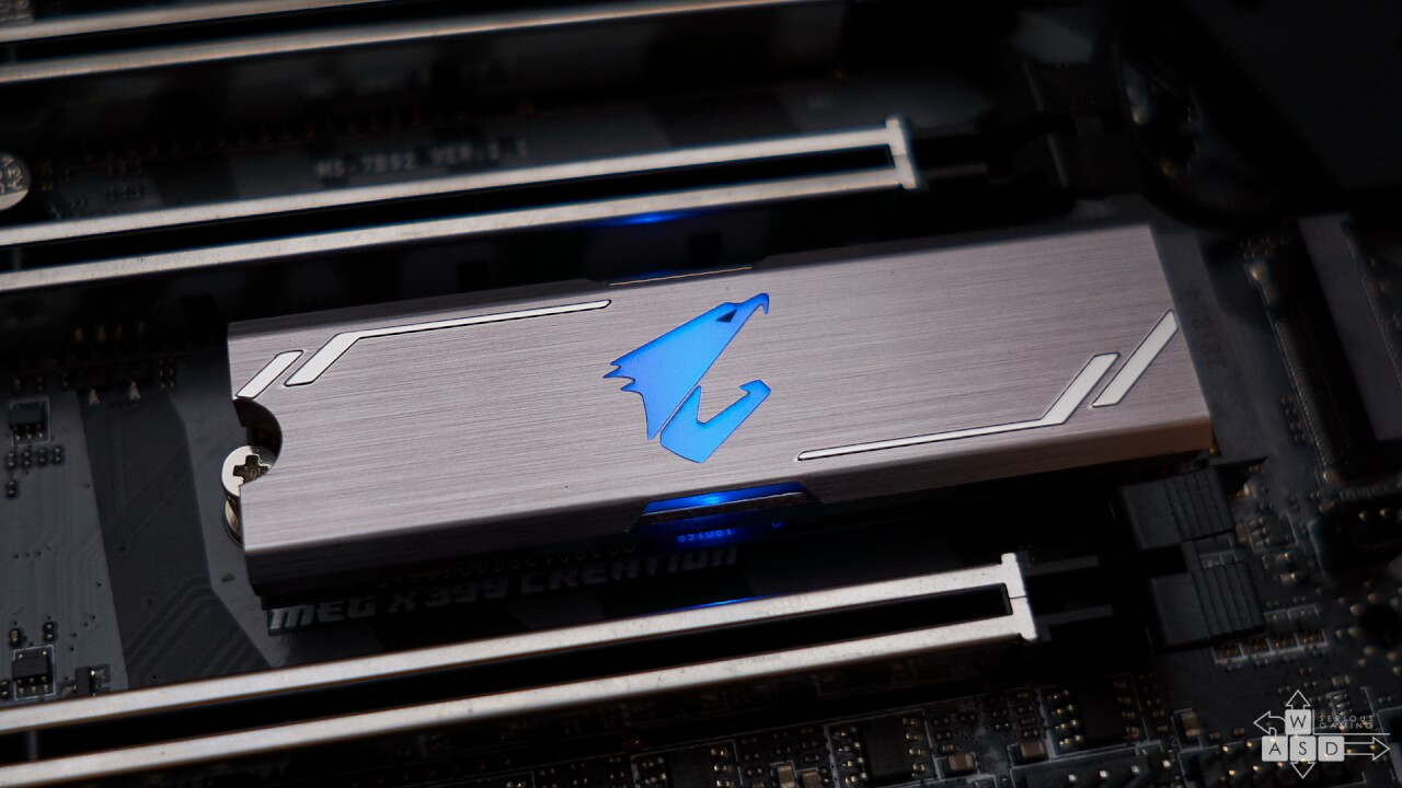 AORUS RGB M.2 NVMe SSD 512GB review | WASD