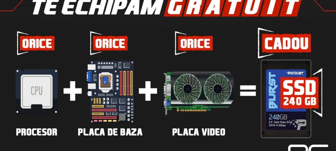 "PC Garage ""Te echipeaza gratuit"" SSD 240GB Cadou"