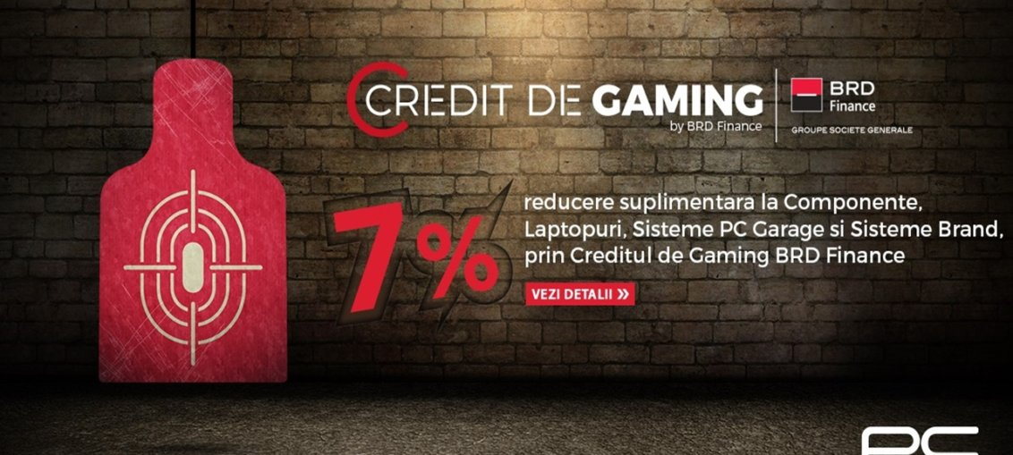 "PC Garage relanseaza ""Creditul de Gaming"", prin BRD Finance"