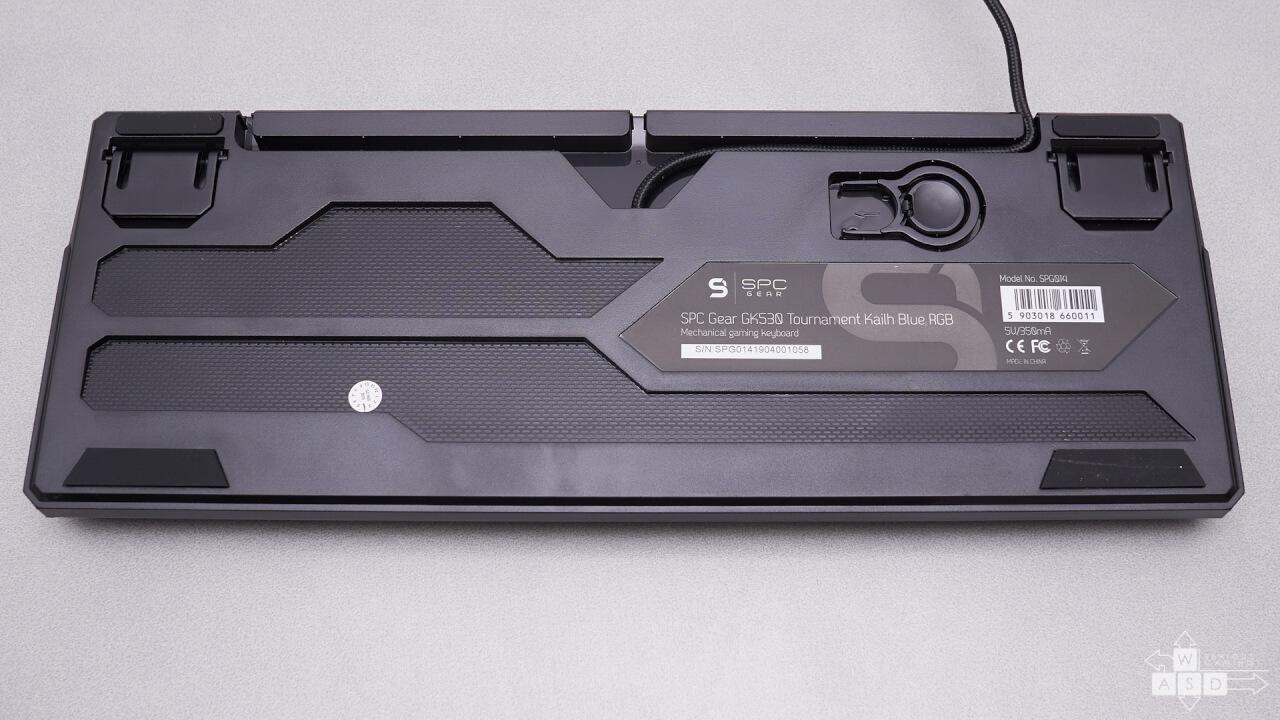 SPC Gear GK530 TOURNAMENT KAILH BLUE RGB review | WASD