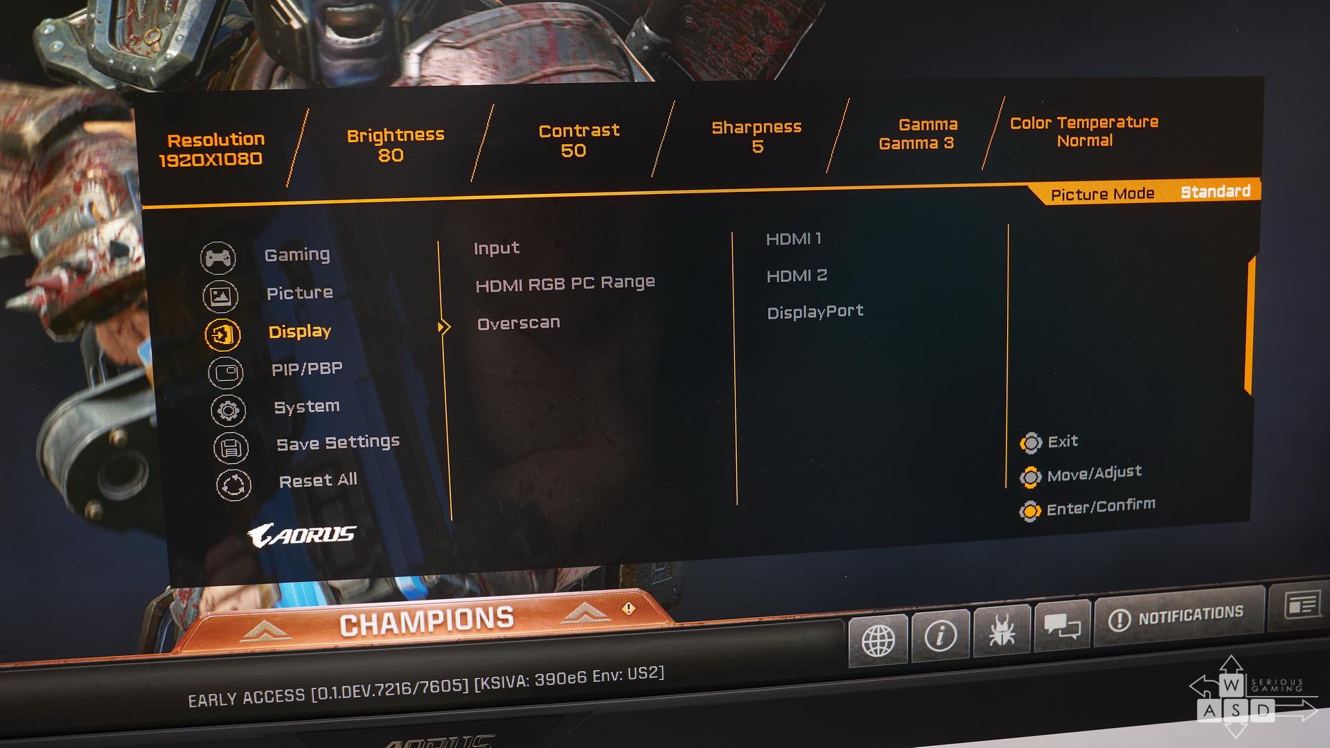 Aorus KD25F 240 Hz gaming monitor review | WASD