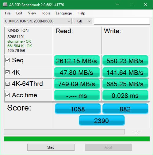 KIngston KC2000 500GB