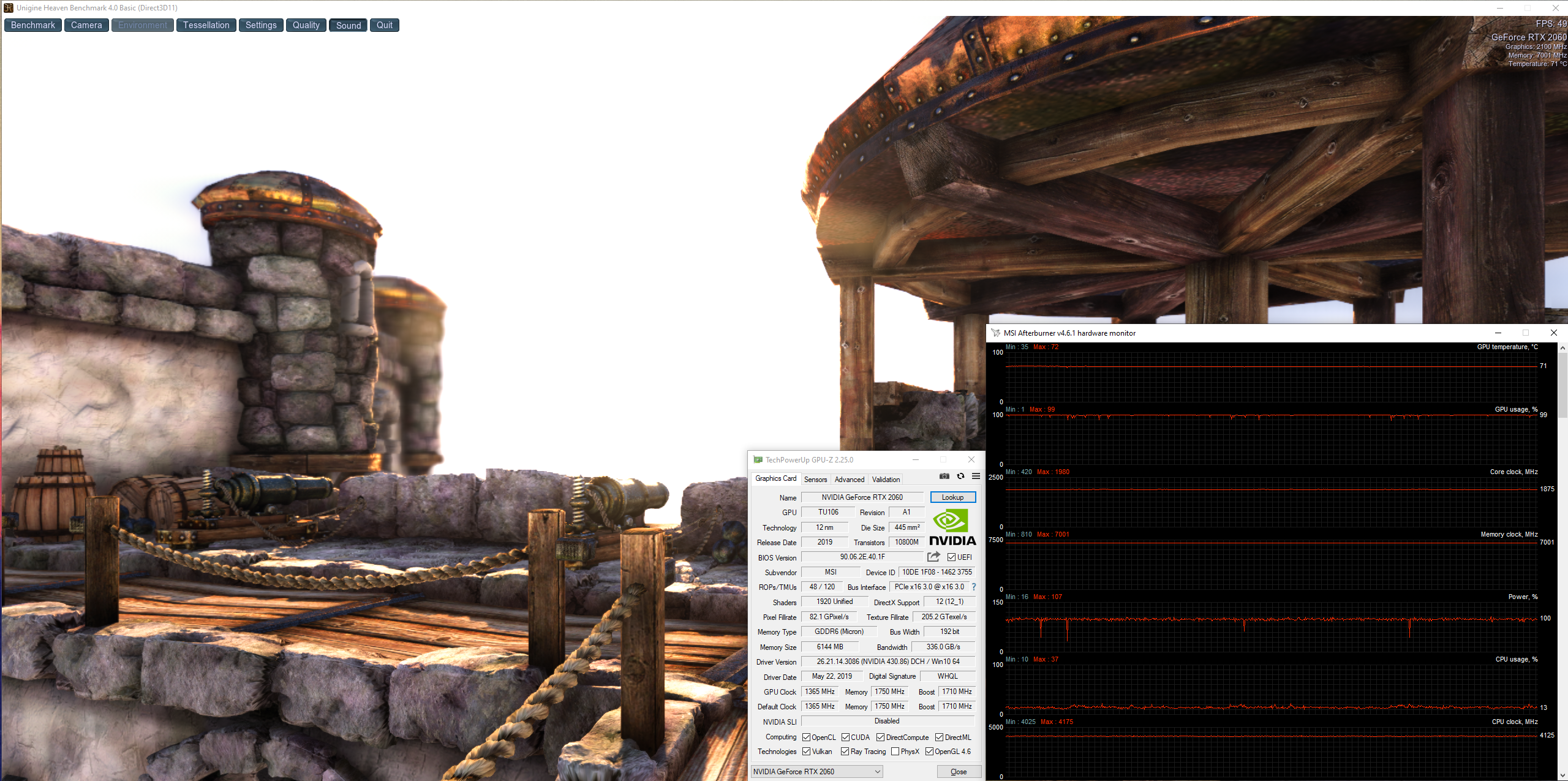 stress test gpu RTX 2060 Arkay