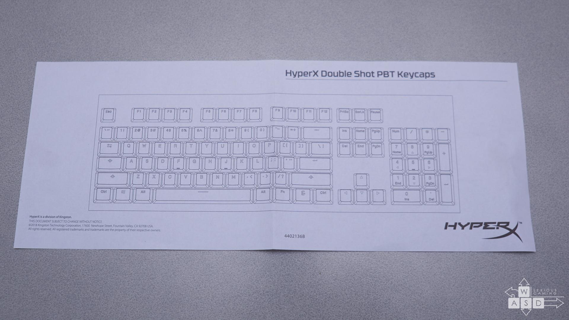 HyperX Double-shot PBT keycaps review | WASD.ro