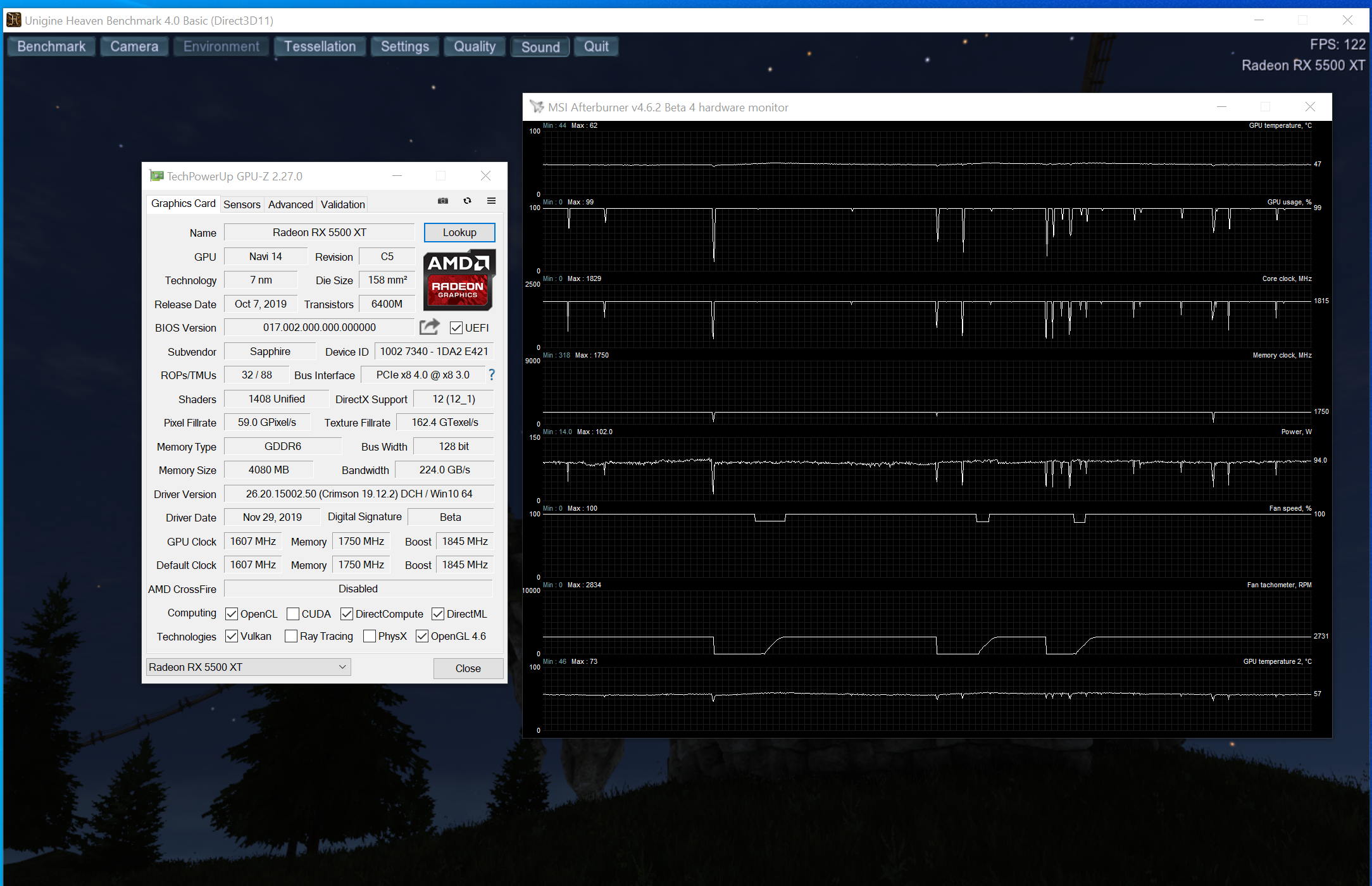Sapphire Pulse RX 5500 XT 4GB