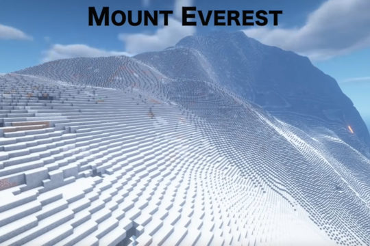Mount Everest in Minecraft