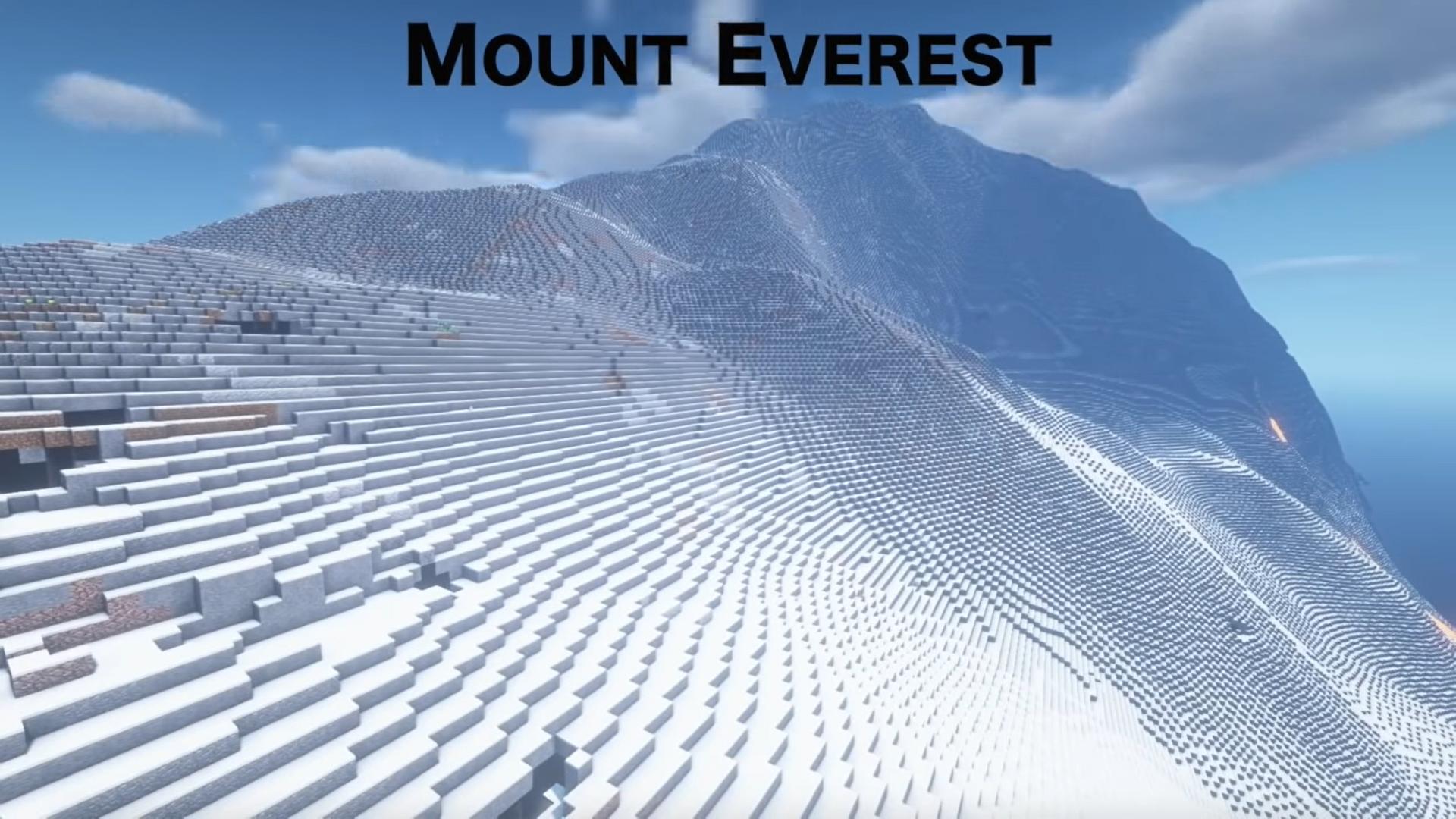 Mount Everest in Minecraft