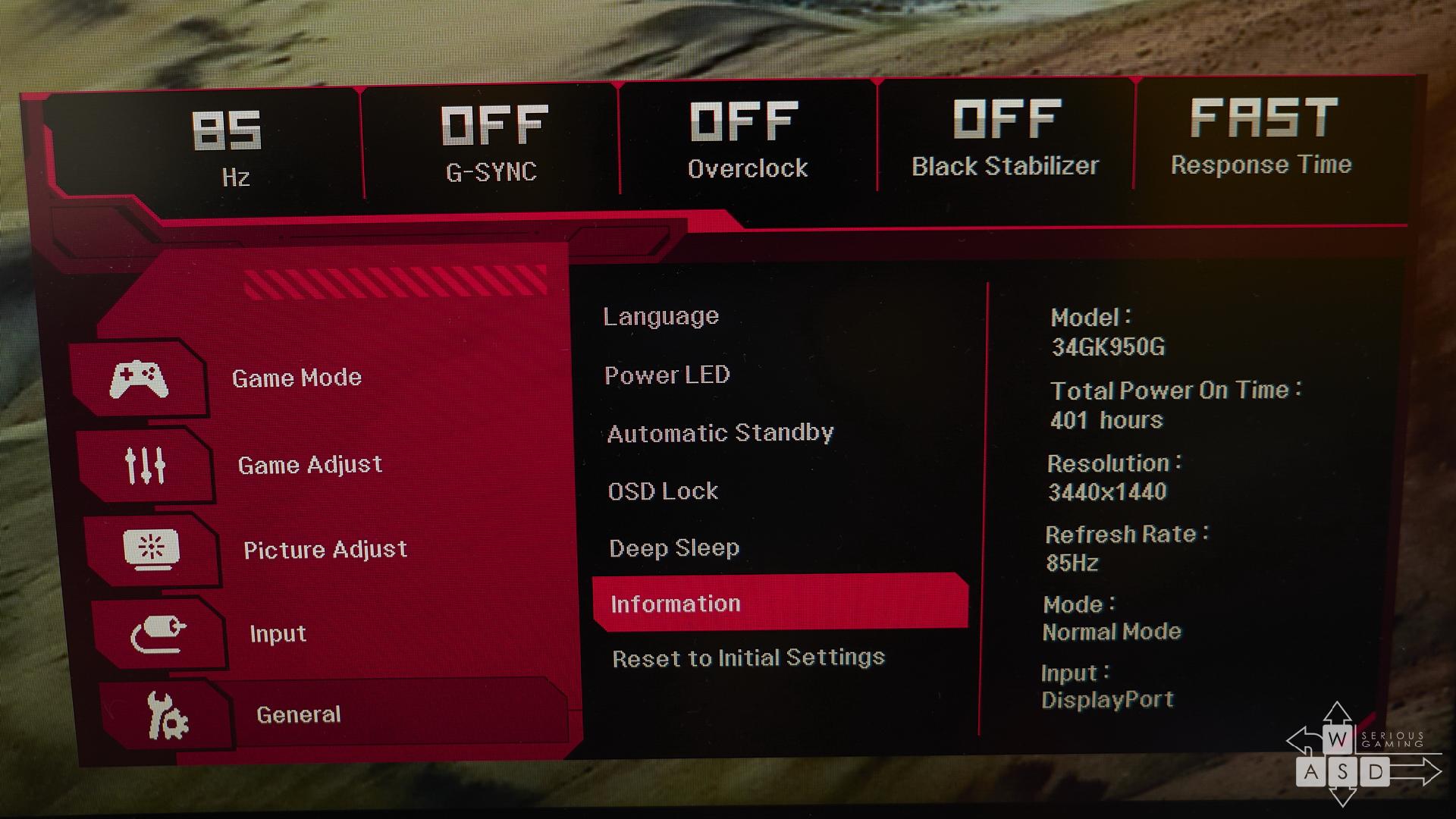 LG 34GK950G review | WASD