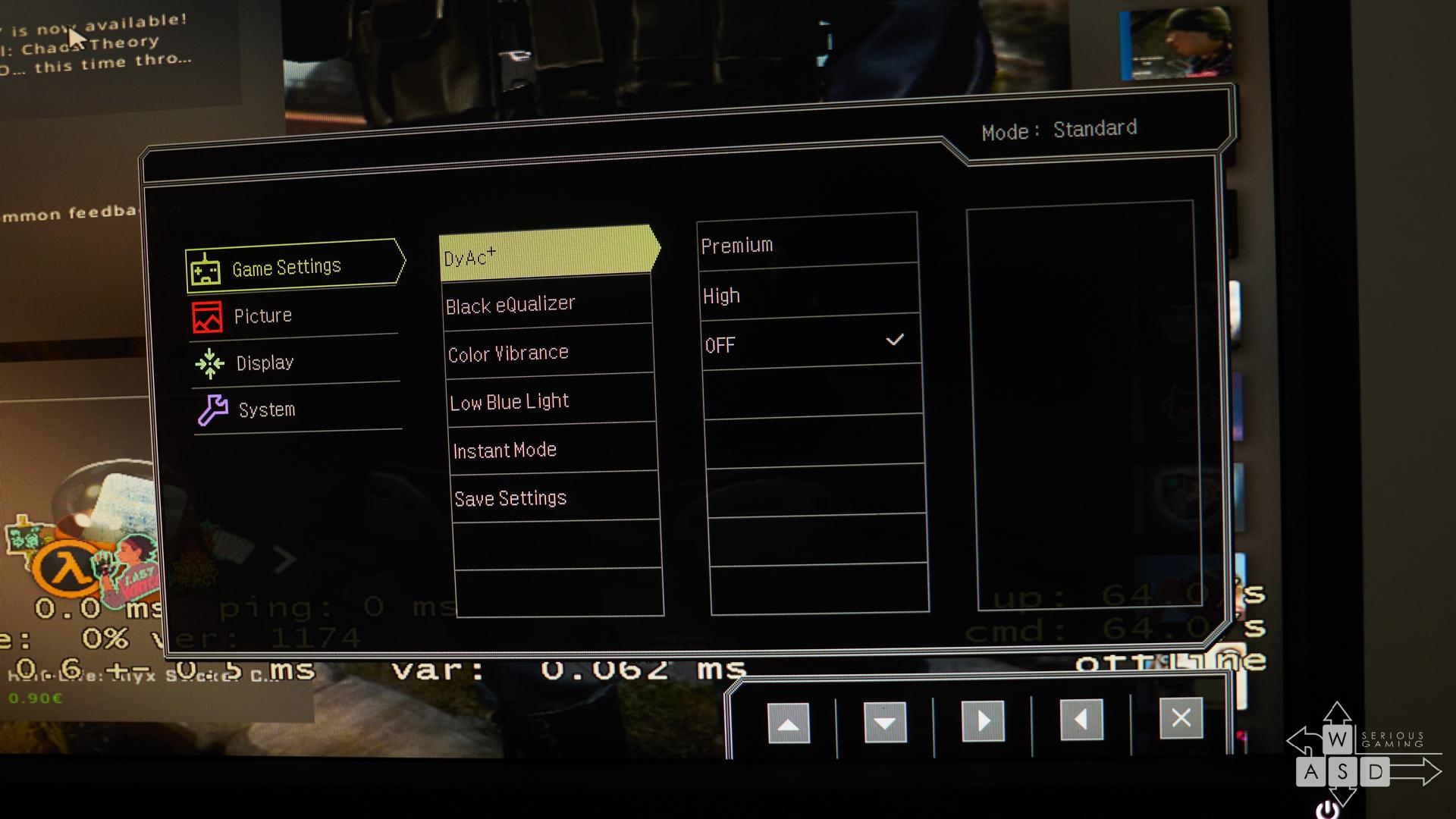 Benq Zowie XL2546S review - input lag tests | WASD