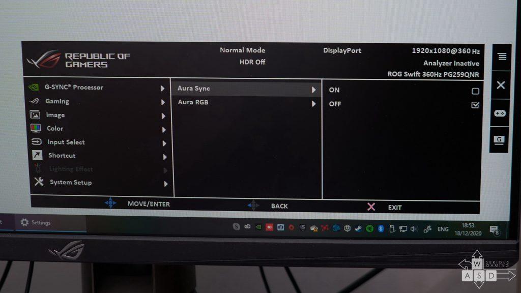 Asus ROG Swift PG259QNR review | WASD