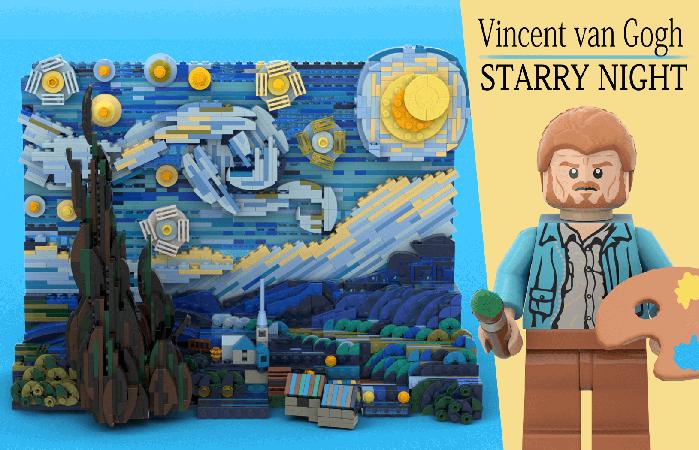 Lego Vincent van Gogh The Starry Night