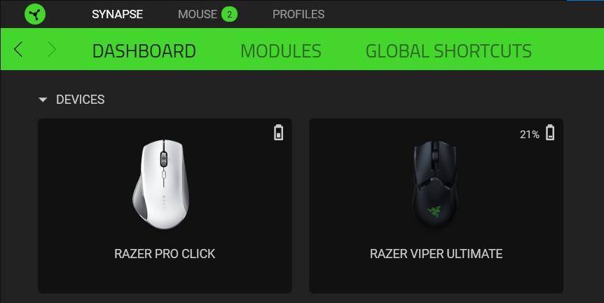 Razer Pro Cklick & Viper Ultimate Synapse